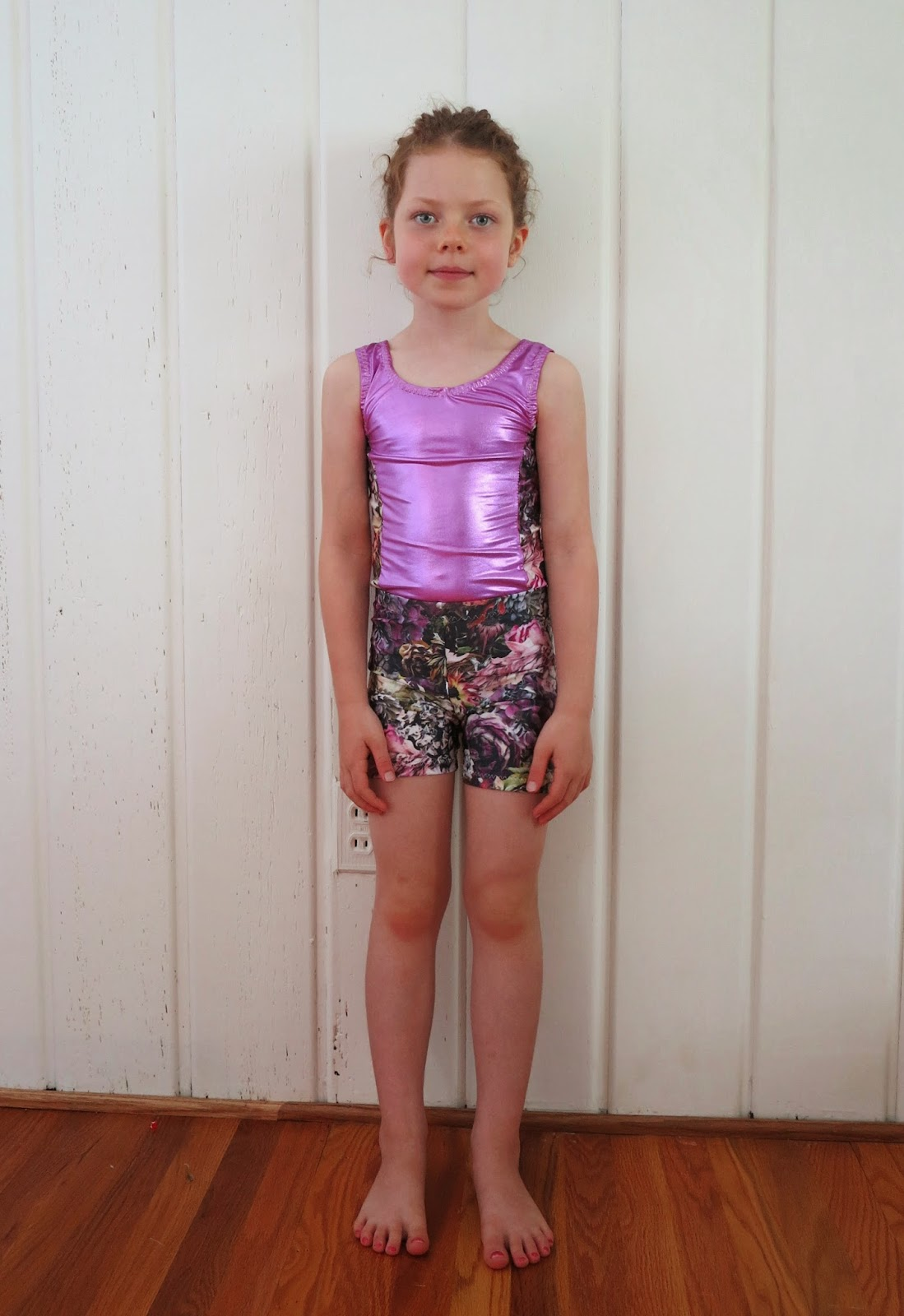 57179b5e2594 Little lady leotards and bike shorts  Kwik Sew 2724